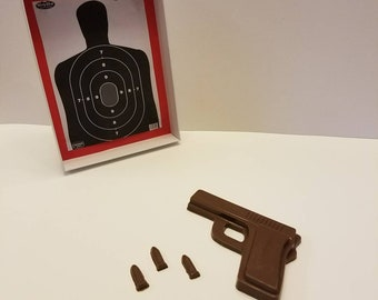 Chocolate Pistol With Target Gift Set,