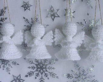 Crochet Sparkling Angel Memorial/Remembrance/Tree Decoration