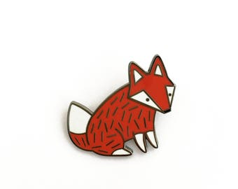 Fox Pin Hard Enamel Lapel Pin Brooche