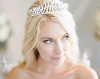 Bridal Tiara Crystal Tiara - FRINGE TIARA, Swarovski Bridal Tiara, Crystal Wedding Crown, Rhinestone Tiara, Wedding Tiara, Diamante Crown