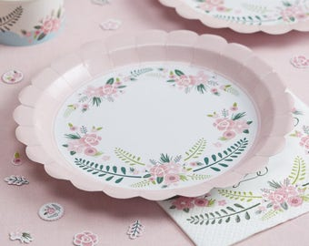 Paper plates ... & Pink paper plates | Etsy