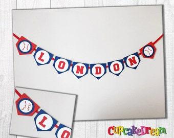 Baseball Birthday Banner, Sports Birthday