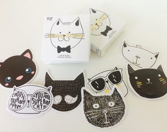 Cool Cat Stickers - Cat Planner Stickers - Cat stationery