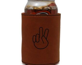 Aslk Leather Can Sleeve, Beer Sleeve, Beer Cooler, Beer Hugger