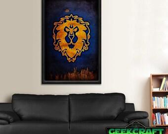Alliance Banner, World of Warcraft, Warcraft, Alliance WOW, Alliances, Alliance Poster, Pandaria, Legion, World, wow Alliance Poster Print