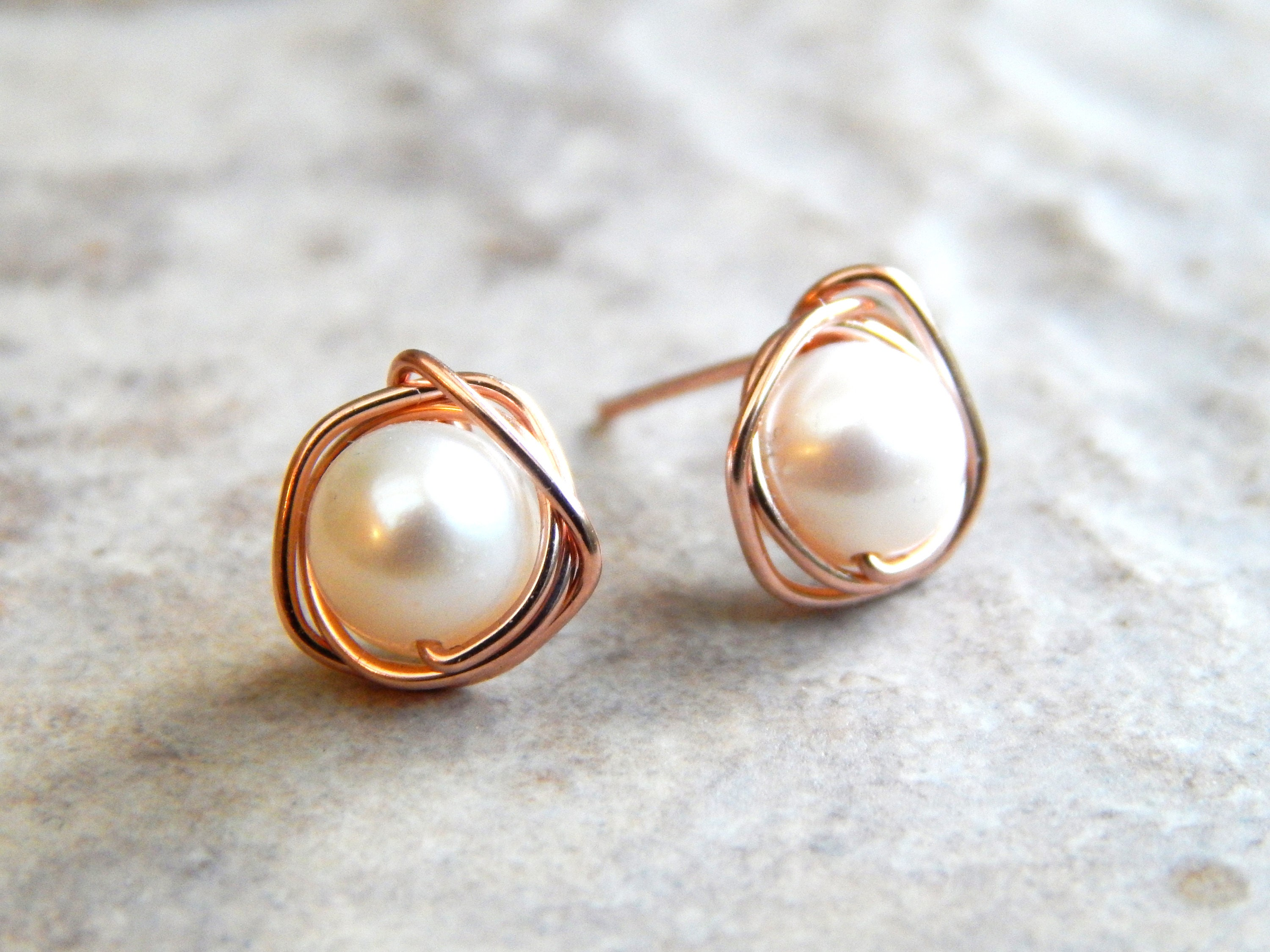 stud pink real retrochicboutiquegb pearl freshwater by on s etsy earrings pale pin