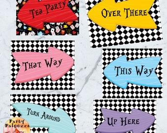 Printable Alice in Wonderland Signs