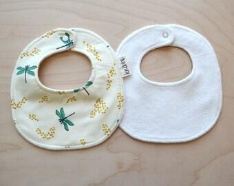 Neugeborenen, Baby Mädchen Halstuch in Libellen - Neugeborene Geschenk, Baby-Dusche-Geschenk, tröpfeln Bib