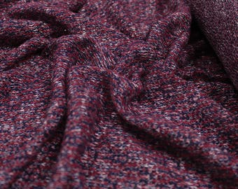 Red Navy Blue Party Confetti Sweater Knit Fabric - 1 Yard Style 6253