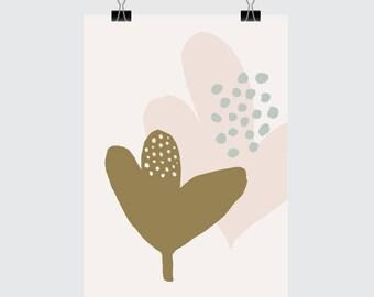GROW Art Print - A5 Size (Art. Print. Nature. Garden. Botanical. Scandinavian. Illustration)