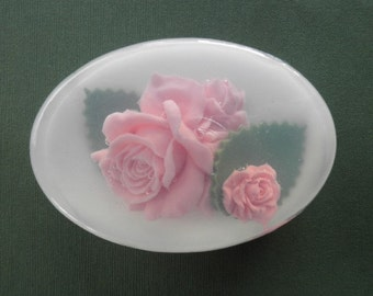 Pink Rose Glycerin Soap