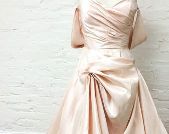 Light Pink/Peach Satin with matte back side