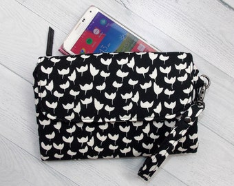 Cell Phone Wallet Womens Credit Card Wallet Design Your Own Wallet Double Zip Wallet iPhone Wallet Womens Clutch Travel Wallet Phone Case