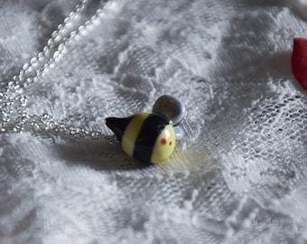 Porcelain Bumble Bee necklace