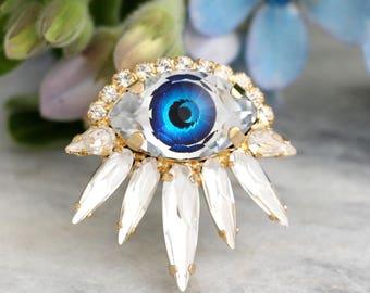 Evil Eye Ring, Statement Ring, Eye Ring, Gothic Ring, Evil Eye Jewelry, Christmas Gift, Gift For Her, Golf Evil Eye Ring, Trending Jewelry