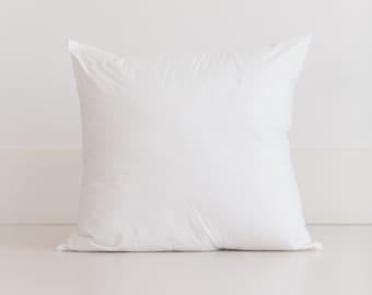 Non-allergenic Pillow Insert for Gingham Home 20x20 Covers