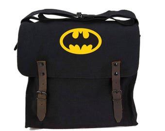Batman Army Heavyweight Canvas Medic Shoulder Bag Vintage Military Surplus Style Medic Bag