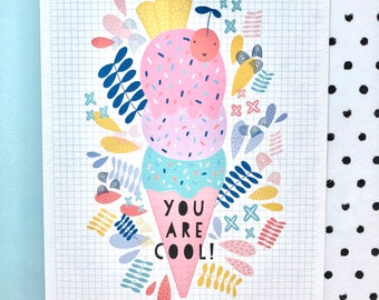 Ice cream print. Personalised ice cream print