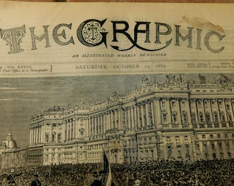 The GRAPHIC Magazine Newspaper October Bof 1883 Great Engravings History Historical Articles Engravings Ballmoral Ulster River Congo Africa