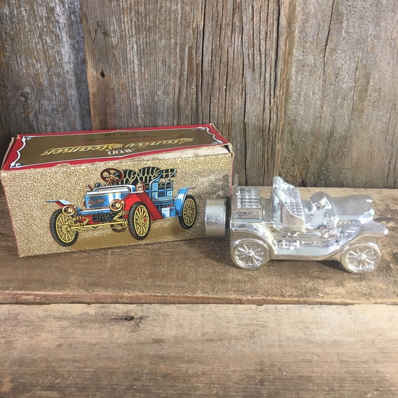 Vintage Avon Stanley Steamer, Silver Stanley Steamer by Avon, 1970's Avon decanter, Avon cologne decanter, Avon collectibles, Tai Winds