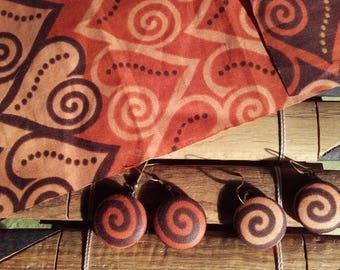 a pair of EARRINGS spiral EARRINGS