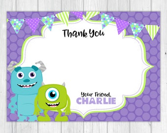 Monsters Inc Inspired 'Thank You' Card