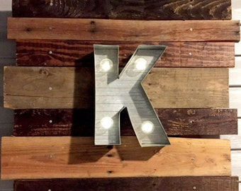 Rustic Marquee Wall Hanging - Custom/ made-to-order