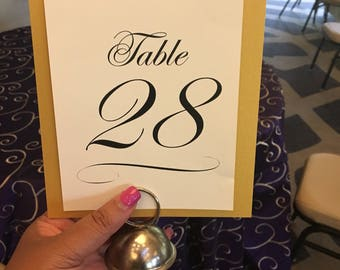 CUSTOM for Camela Elegant Table Number Wedding Decor Reception Sign Cards Made to Order Text Scroll Swirl
