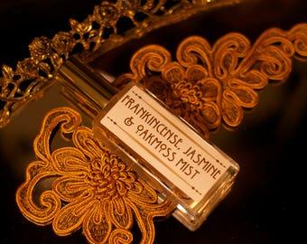 new! MIST ~ Natural Perfume Spray - Frankincense, Jasmine, Oakmoss theater potion hair perfume, body spray, essential oils