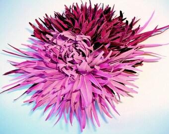 Violet & Purple Chrysanthemum Silk Flower Hair and/or Brooch Pin