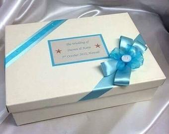 Personalised Wedding keepsake gift box