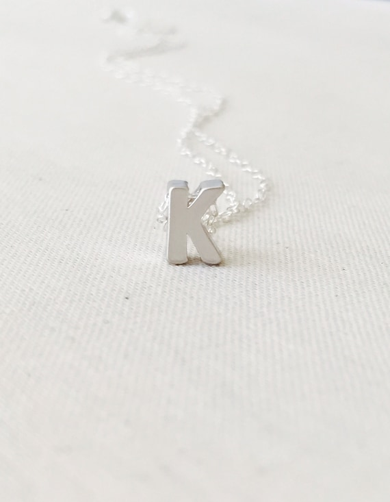 Small letter k necklace sterling silver necklace initial k small letter k necklace sterling silver necklace initial k pendantcharm letter k necklace birthday gift gold letter necklace aloadofball Gallery