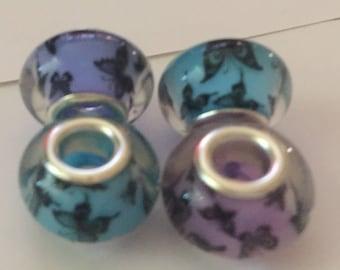 Butterfly Glass Beads