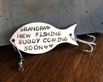 Pregnancy Announcement Grandparents, Pregnancy Reveal To Grandparents, Fishing Gift For Grandpa, Custom Fishing Lure, Fisherman Gift
