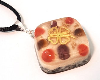 JOY & VITALITY Orgone Energy Pendant – Carnelian, Garnet, Tiger's Eye - Increase joy, motivation, energy levels and positivity - Small