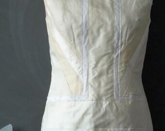SALE Little White Wedding Dress - UK Union Jack