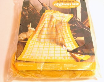Vintage Baby Afghan Knitting Kit