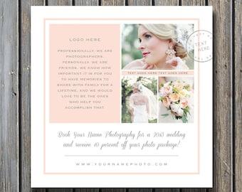 Photography Templates - Wedding Photographer Marketing Template - Photo Marketing Design - Square Flyer for Facebook & Blogs