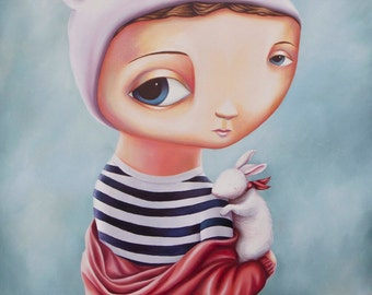 Velveteen Rabbit - A3 Limited Edition signed numbered Fine Art Print by Rachel Favelle - unframed