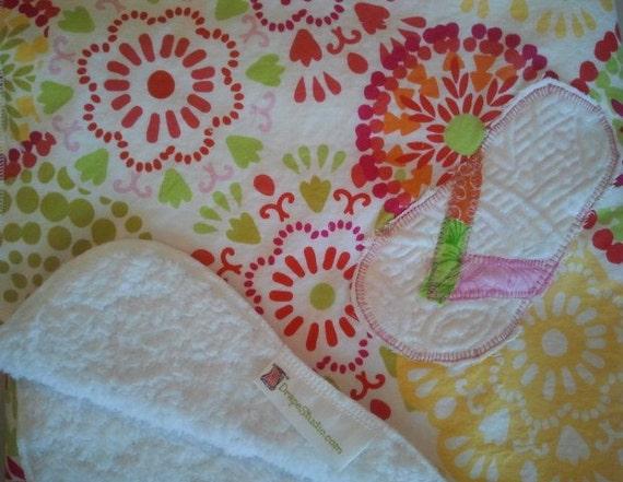 Baby Stroller Quilt / Flip Flop applique -Waverly Designer Cotton Fabric - Big Wheels / READY TO SHIP