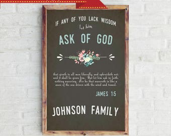 Ask Of God Personalized Family Poster