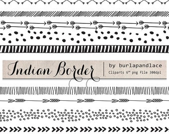 Hand Drawn clipart arrows, indian border, arrows clipart, Navaho clipart, arrows, instant download