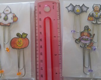 CLEARANCE SALE * Day planner clip Halloween Dayplanner paperclips Bookmark Scrapbook embellishments paper clip Page Clip planner bookmark