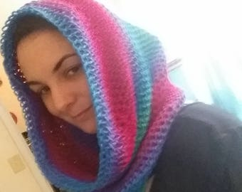 Knitted slouchy cowl