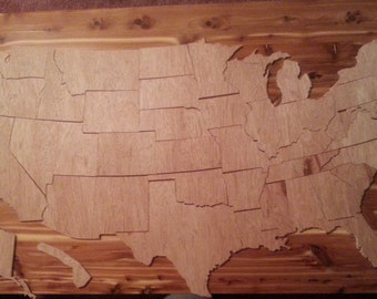 Large 50 State Wooden United States of America Puzzle and Mural (831)