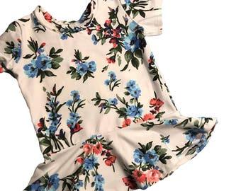 Floral Peplum Top Girls size 12/18 Months - 2/3