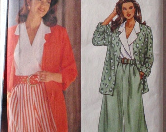 Butterick 6704 Sewing Pattern - Misses/Misses Petite Unlined Jacket, Top, Split Skirt and Belt - Sizes 12-14-16, Bust 34 - 38, Uncut