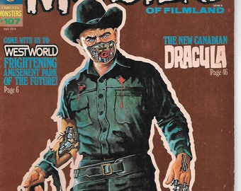 Famous Monsters Of Filmland #107 | May 1974 | Yul Brynner | The New Canadian Dracula