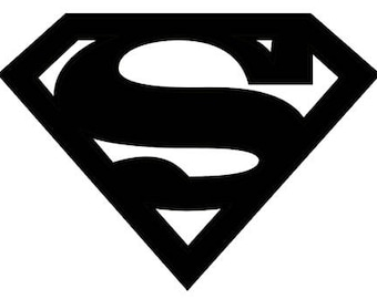 Superman Symbol Stencil Made from 4 Ply Mat Board