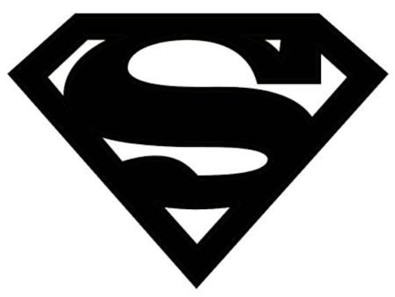 superman symbol stencil made from 4 ply mat board rh etsy com superman logo stencil free superman logo stencil pumpkin
